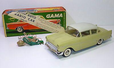 Very Rare Gama 1950 S Opel Olympia Rekord Radio Car In Original