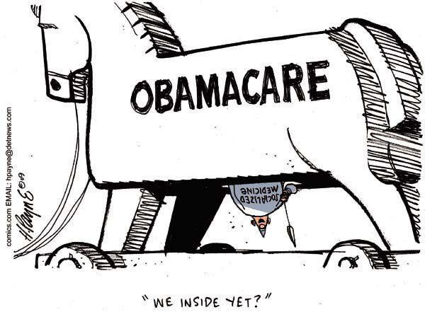 Political cartoon using allusion