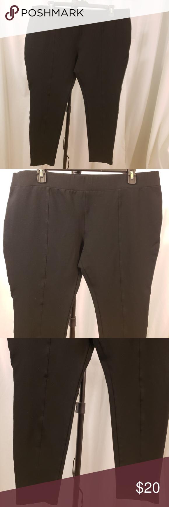 22c8136569b AVA VIV 3x black thcker tight stretch leggings NEW AVA VIV 3x black thicker  tight stretch leggings NEW front leg seam business casual brand-  avaandviv  ...