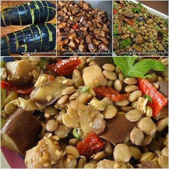 #BomDia! A nossa dica para o #almoço é esta deliciosa e super nutritiva Salada de Lentilha com Berinjela! Bora fazê-la?  #Receita aqui: http://www.gulosoesaudavel.com.br/2012/05/07/salada-lentilhas-berinjela/