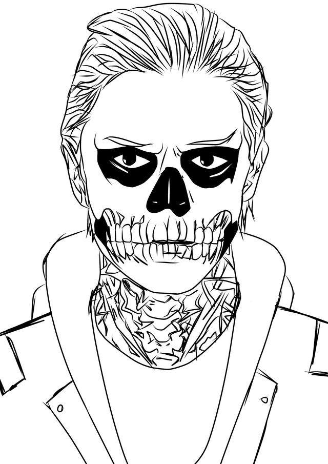 zombie and pumkin halloween coloring page american horror story