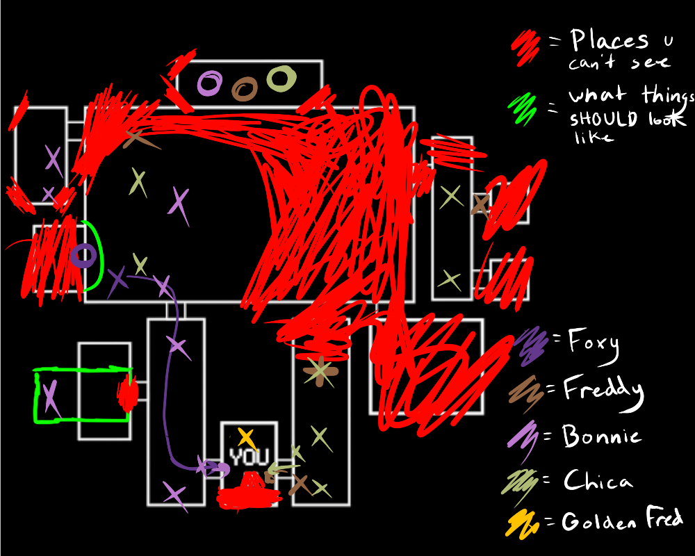 FNAF map by WillowThePuppy12 deviantart com on @deviantART