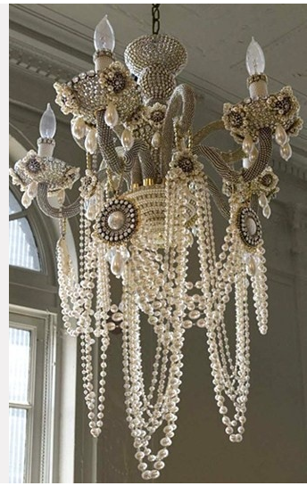 Fanciful chandelier perfect for an Art Deco dining room or master suite.