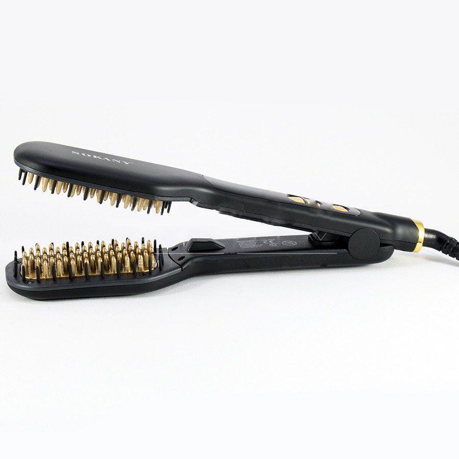 فرشاة مشط حرارية مزدوجة تسخن بسرعة 750 فهرنهايت 400 مئوية من سوكاني Hair Hair Straightener Beauty