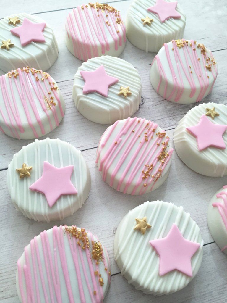 Dipped Oreos For Baby Shower Part - 27: Twinkle Twinkle Little Star Birthday Party Baby Shower Cookies-Chocolate Covered  Oreos TheIcedSugarCookie.com
