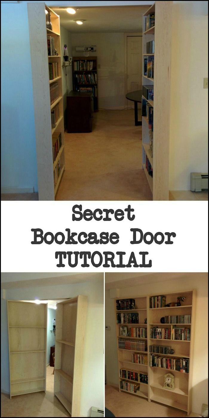 Hidden door/bookshelf Hidden bookshelf door, Bookcase