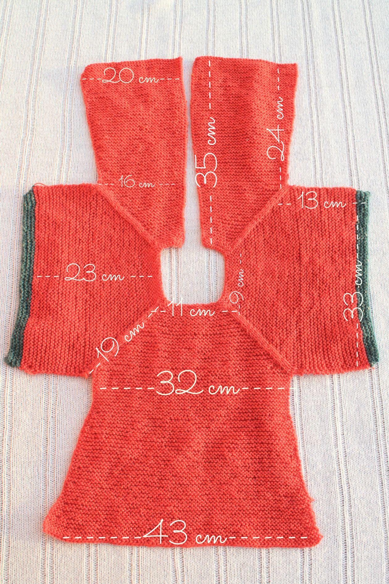 medidas patrón chaqueta punto niña talla 2 | Tricot -Knitting ...
