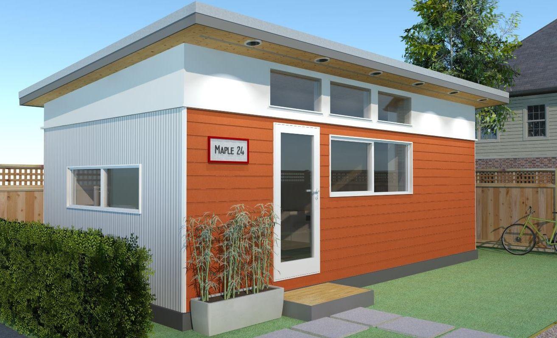 Modular Laneway House | Tiny home cost, Backyard office ... on Backyard Renovations Cost id=79431