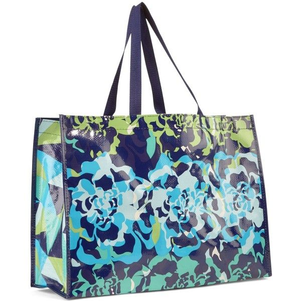 Vera Bradley Market Tote in Katalina Blues ( 8) ❤ liked on Polyvore  featuring bags ff6ade145edef