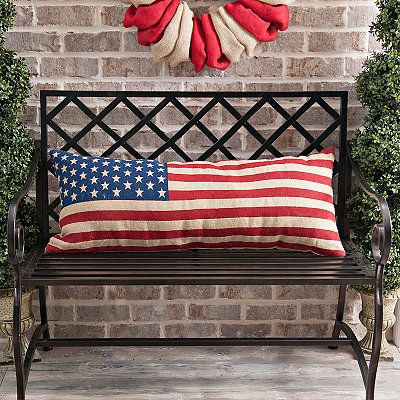 American Flag Bench Pillow In 2020 4th Of July Decorations Bench Pillows Americana Decor