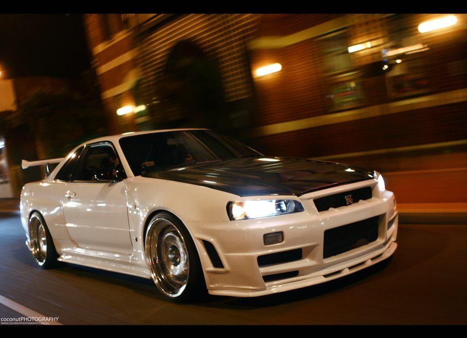 Nissan · R34 At Night · Tuner CarsJdm CarsNissan Gtr R34Skyline ...