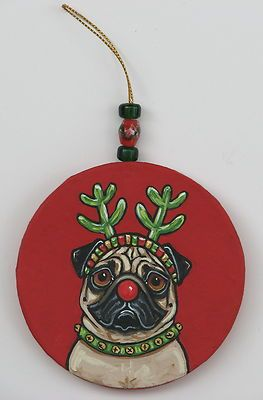 Earth Alone Earthrise Book 1 Dog Ornaments Pugs Christmas Dog