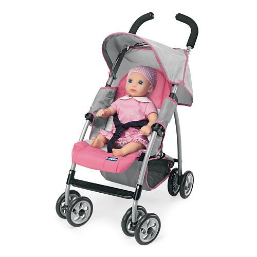 Chicco Mini Doll Stroller Pink And Grey Chicco Toys