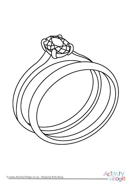 Wedding Rings Colouring Page Wedding Rings Coloring Pages Color
