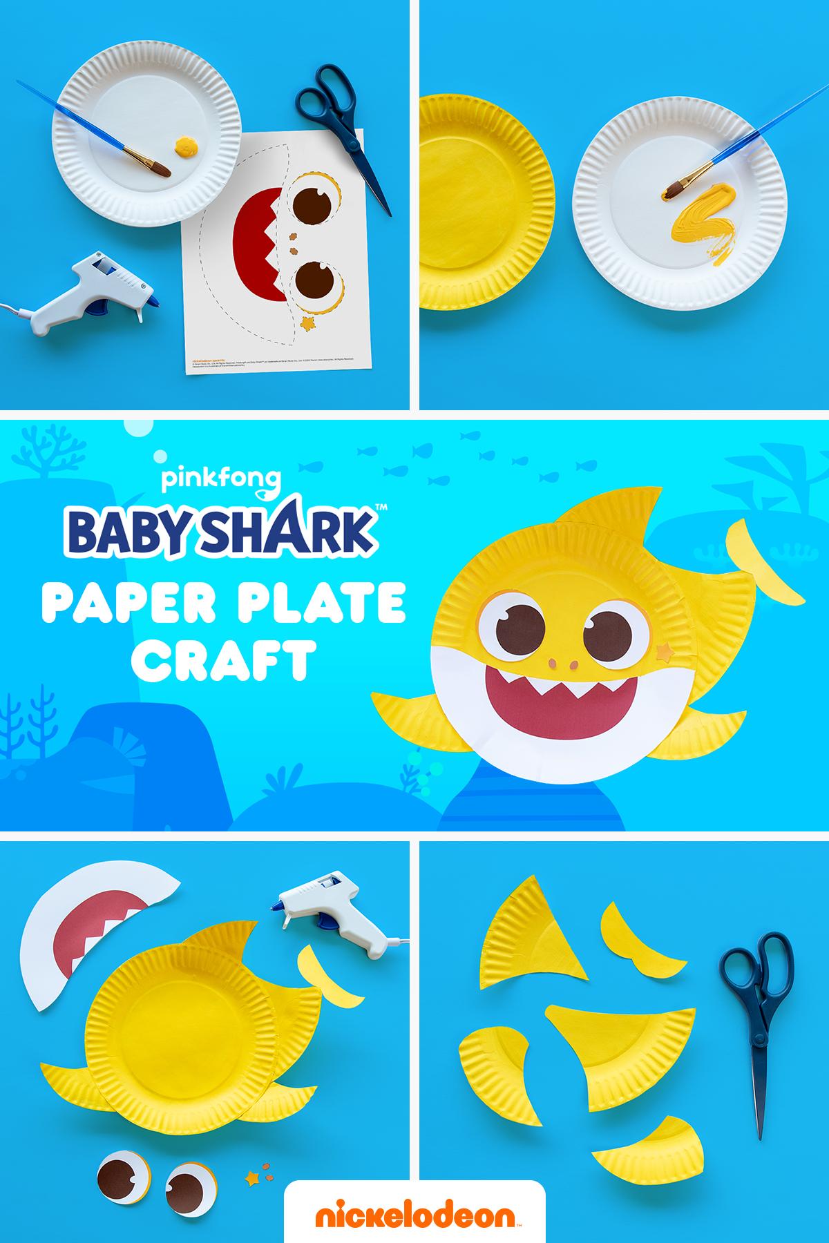 It S A Baby Shark Plate Craft Doo De Doo De Doo In