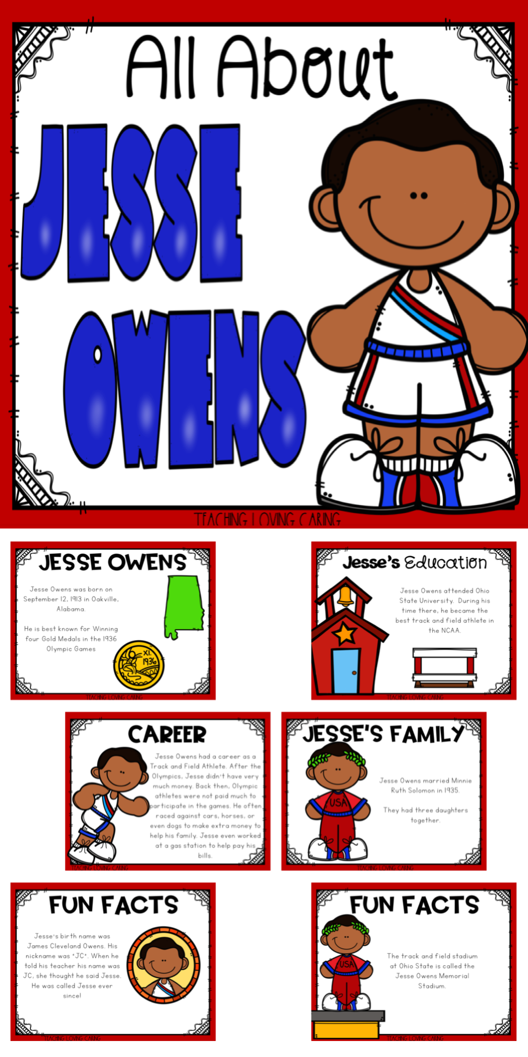 All About Jesse Owens Use This Kid Friendly Presentation To Teach Your Class All About Black Black History Month Writing History Lessons For Kids Jesse Owens [ 2110 x 1055 Pixel ]