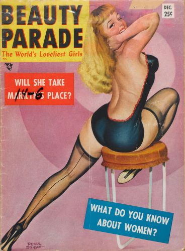 PETER DRIBEN - art for What Do You Know About Women - Dec 1949 Beauty Parade