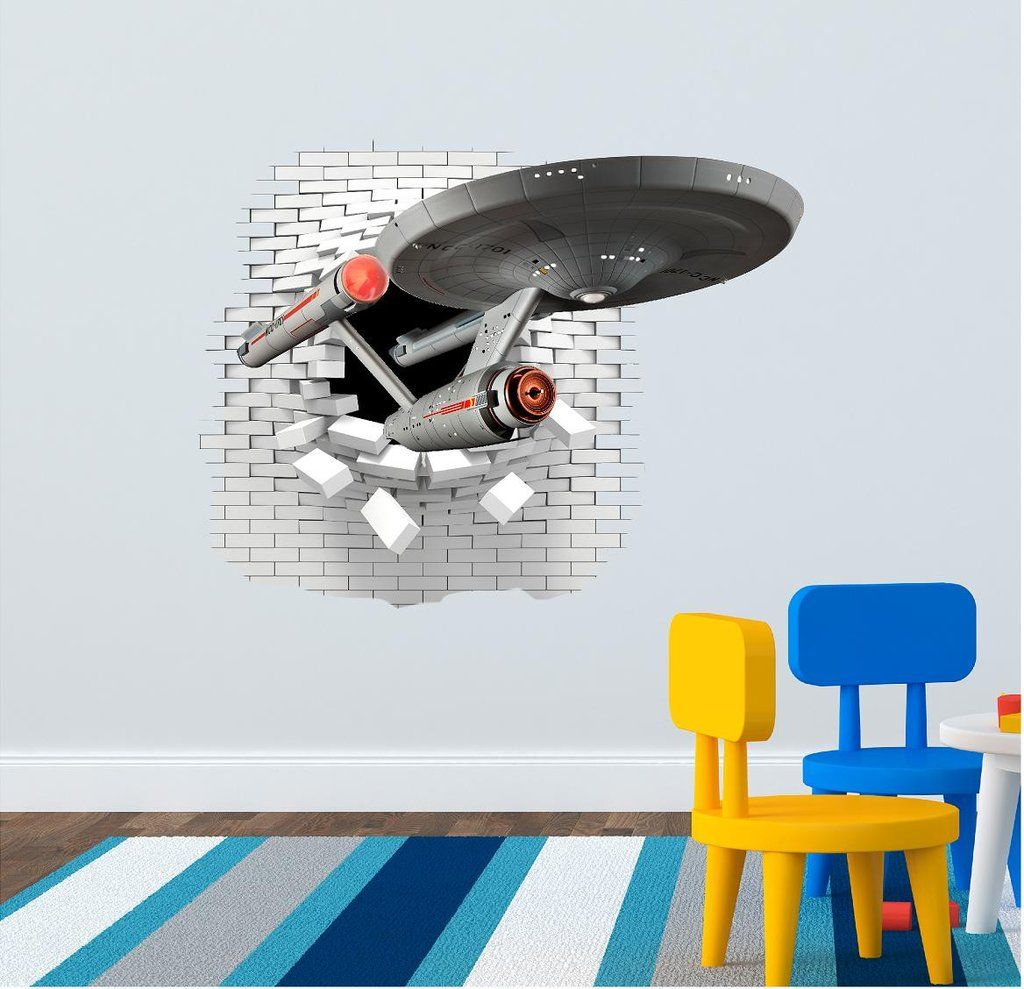Star Trek wall sticker 72 x 58  sc 1 st  Pinterest & Star Trek wall sticker 72 x 58 | Wall stickers (decals) for the kids ...