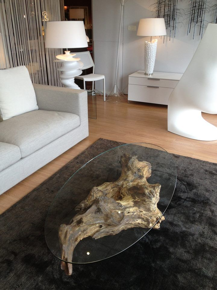 table basse souche de ch ne table basse souche racine d 39 arbre tree roots coffee table. Black Bedroom Furniture Sets. Home Design Ideas
