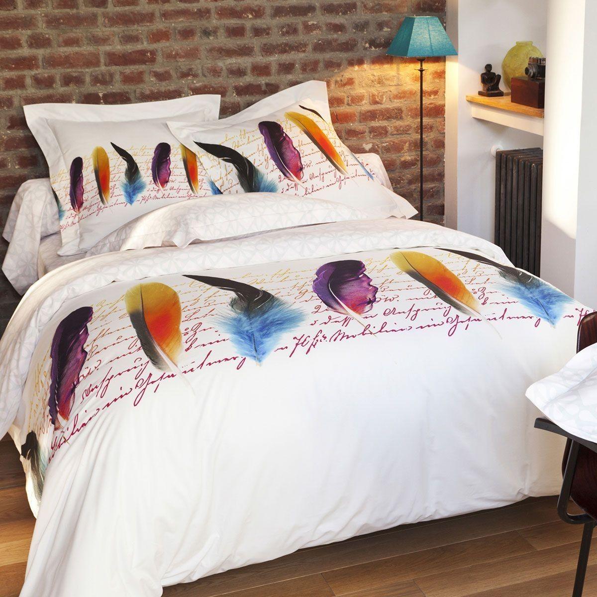 Housse De Couette Plumetis Percale De Coton Housse De Couette Parure De Lit Et Decoration Maison
