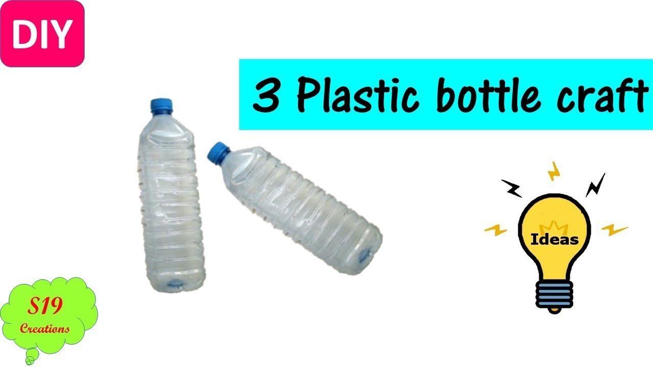 3 Plastic Bottle Craft Ideas Best Out Of Waste Ideas Plastic