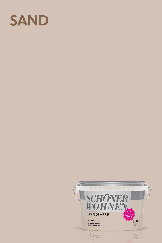 Trendfarbe Sand Schoner Wohnen Farbe Schoner Wohnen Wandfarbe Schoner Wohnen Trendfarbe