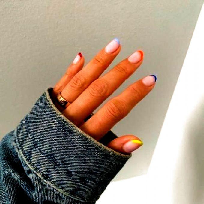 Photo of Mar 3 2020 – Nagel Kunst #Kunst # Nägel #colurful nails #faded french nails #fr…