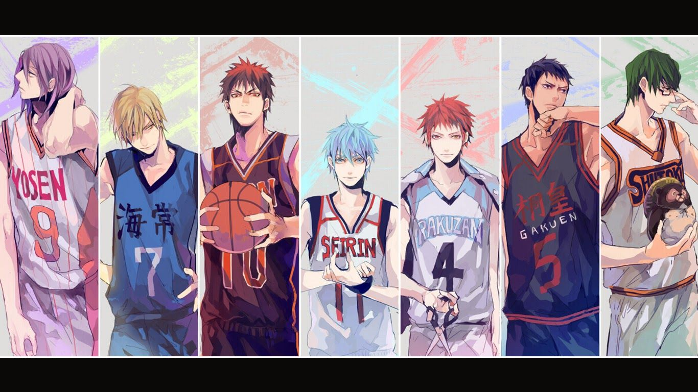 Kuroko S Basketball Characters 6 High Resolution Wallpaper