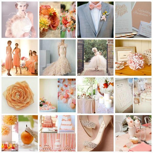 Unique peach wedding themes inspiration wedding dress inspiration peach wedding styling peach wedding ideas peach wedding moodboard junglespirit Images