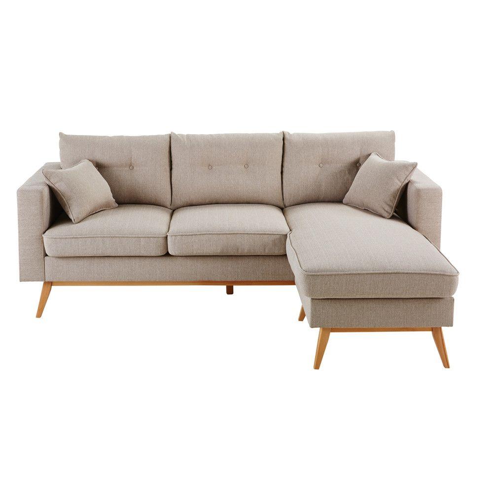 canap d 39 angle modulable scandinave 4 5 places en tissu. Black Bedroom Furniture Sets. Home Design Ideas