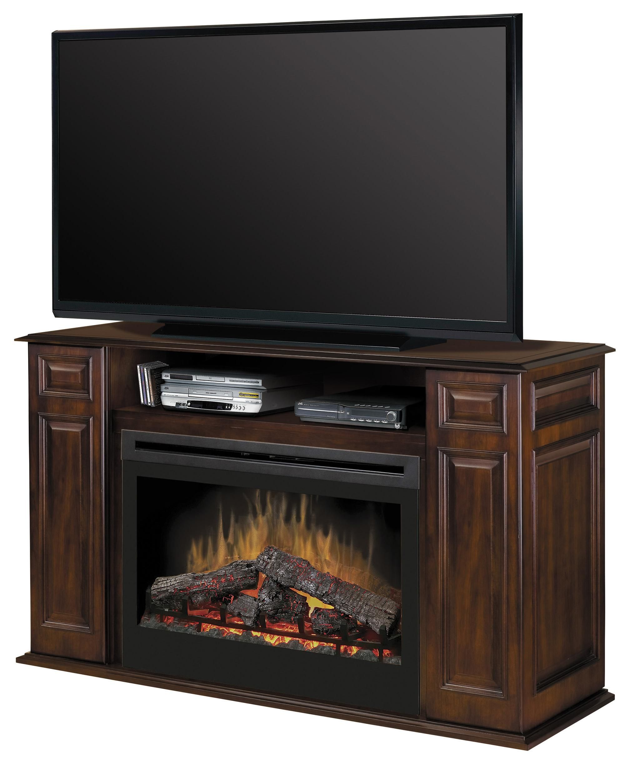 up output photo whalen fireplace for stock console cherry media inch tvs dark to p fireplaces weathered wood