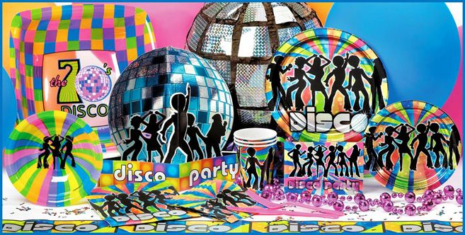 70s party decoration ideas 70 s disco special events for Decoration murale annee 50