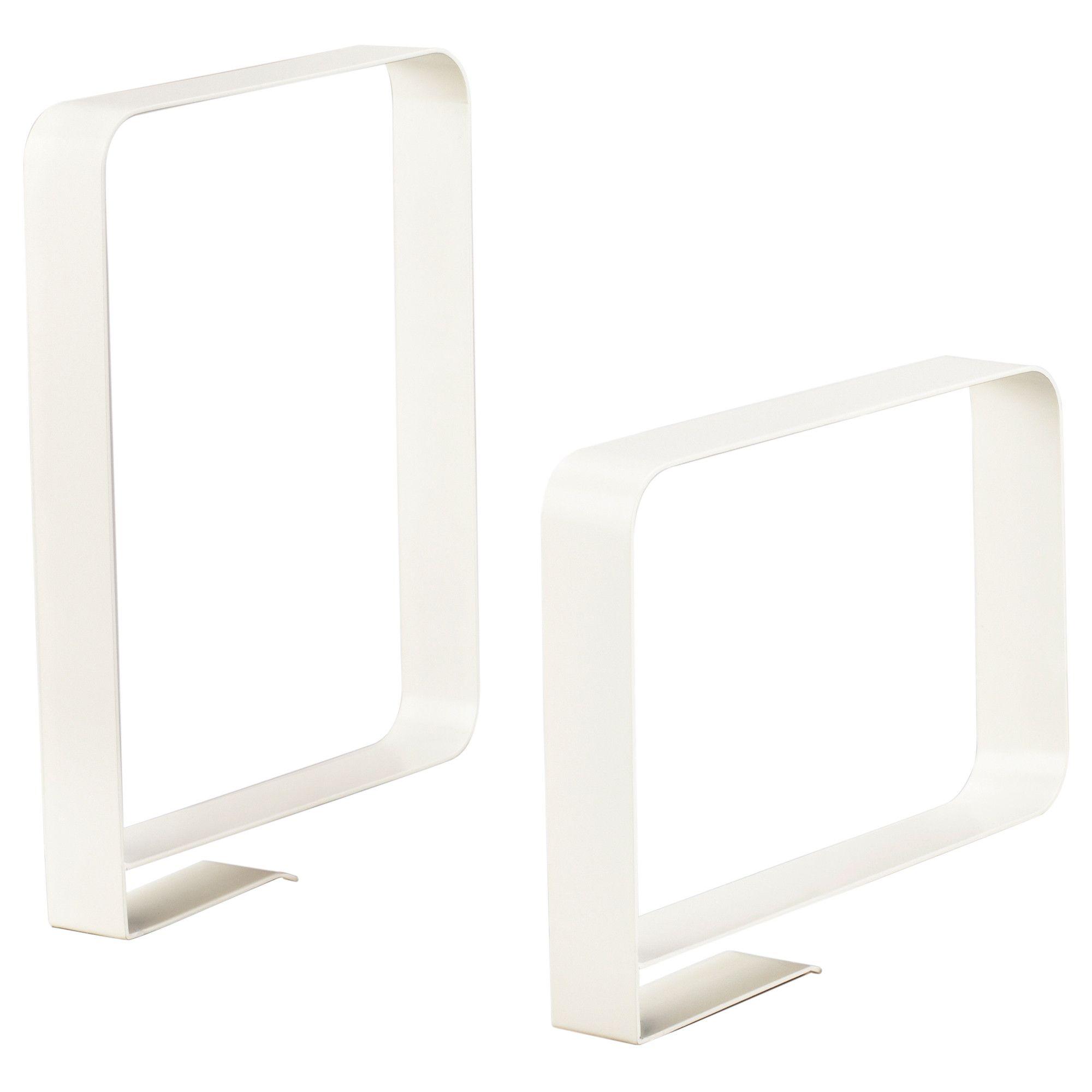 ikea kvissle bookend white powder coated steel workspace pinterest. Black Bedroom Furniture Sets. Home Design Ideas