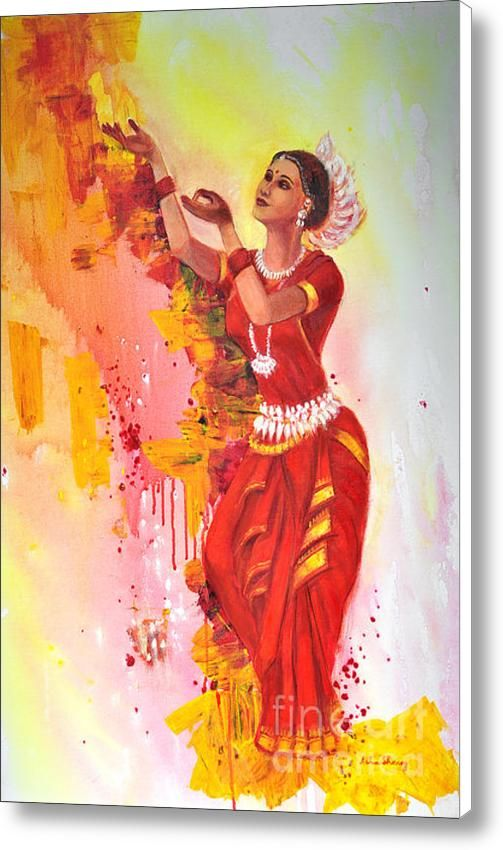 D Indian Dance Art Print Home Decor Wall Art Poster