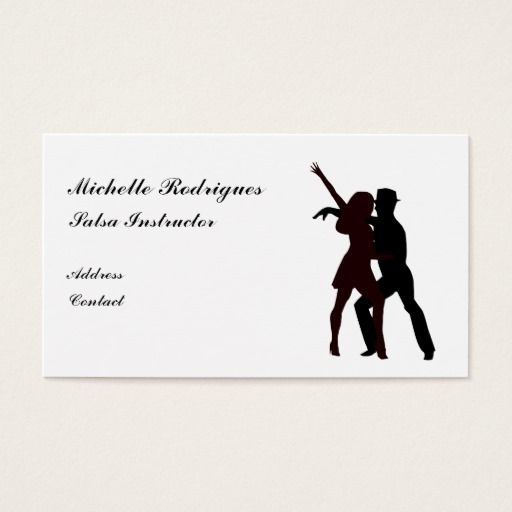 Silhouette Of Salsa Dancers Business Card Zazzle Com In 2021 Dancer Business Card Salsa Dancer Dancer