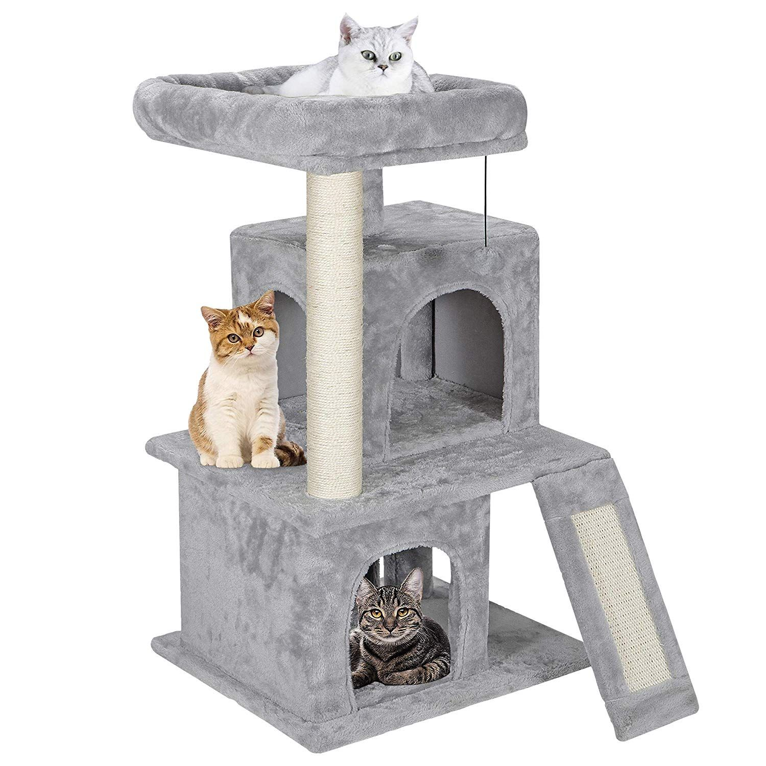 Nova Microdermabrasion 33 9 Cat Tree Activity Tower Stand With Plush Perch And Sisal Posts For Kittens Pet Kitty Play Large Cat Tree Kitten House Kitten Tower