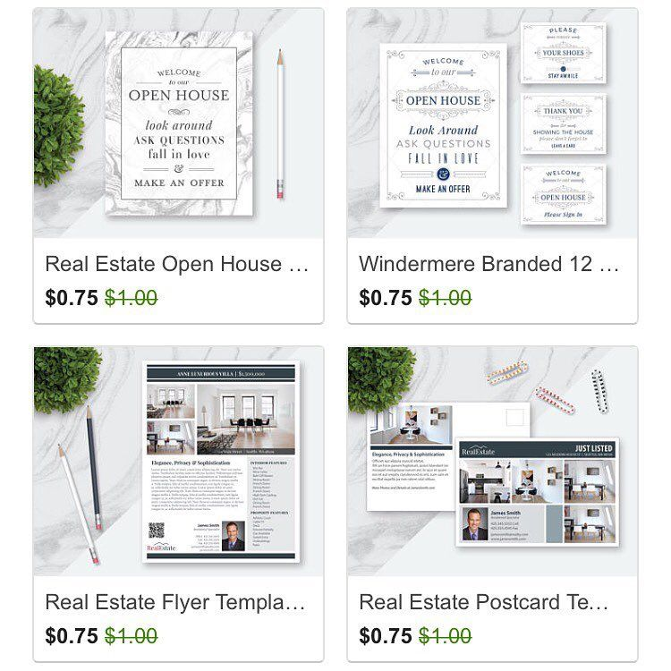 Etsy Sale Real Estate Templates, Real Estate Open House Signs - open house templates