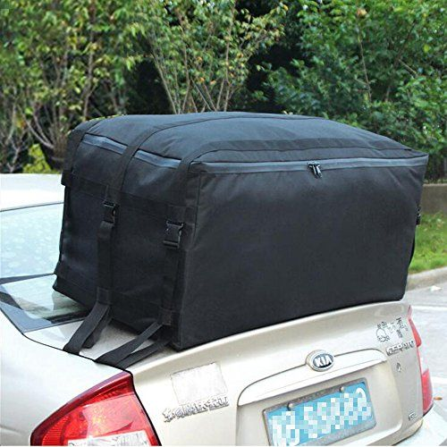Tancendes Oxford Waterproof Car Top Carrier Car Roof Cargo Bag Car