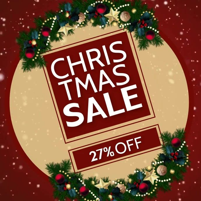 Christmas Retail Sale Ad Flyer Template In 2020 Event Template Christmas Flyer Template
