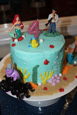 The Little Mermaid Ariel birthday cake Mermaid party Pinterest