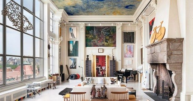 Loveisspeed From Floor To Ceiling Everything Is Art In This Loft Apartment In Ny Reminds Ga New York Loft New York Apartment Upper West Side Apartment