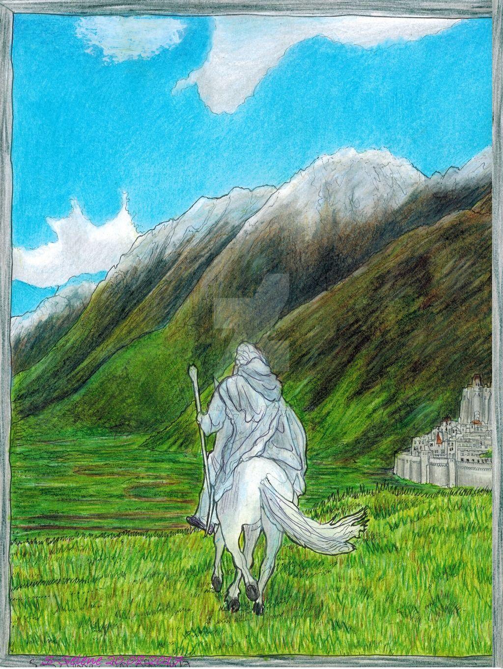 Гэндальф Gandalf and Shadowfax by I-Love-My-Pencils | Lord of the ...