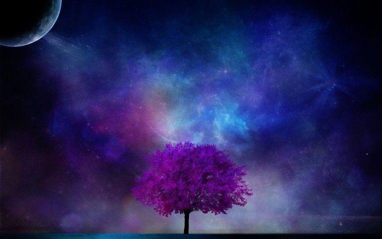 3d Moon And Stars Fantasy Wallpaper Hd Download Desktop Fond Decran Creation Artistique Creations