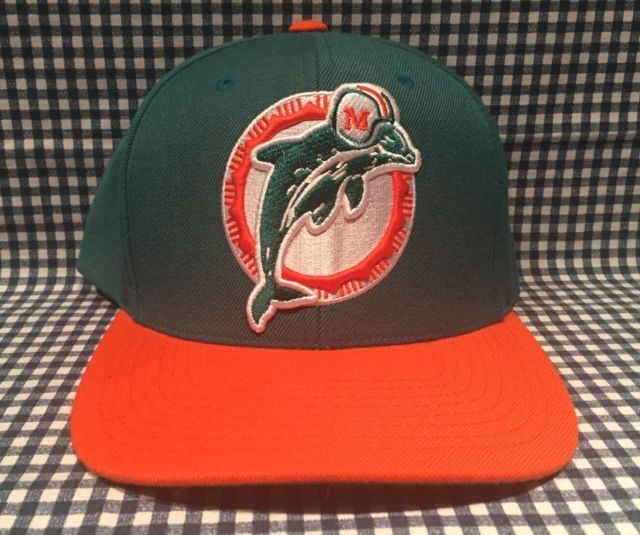 1a4313470 Miami Dolphins Mitchell   Ness Vintage Collection SnapBack Adjustable Hat  NFL