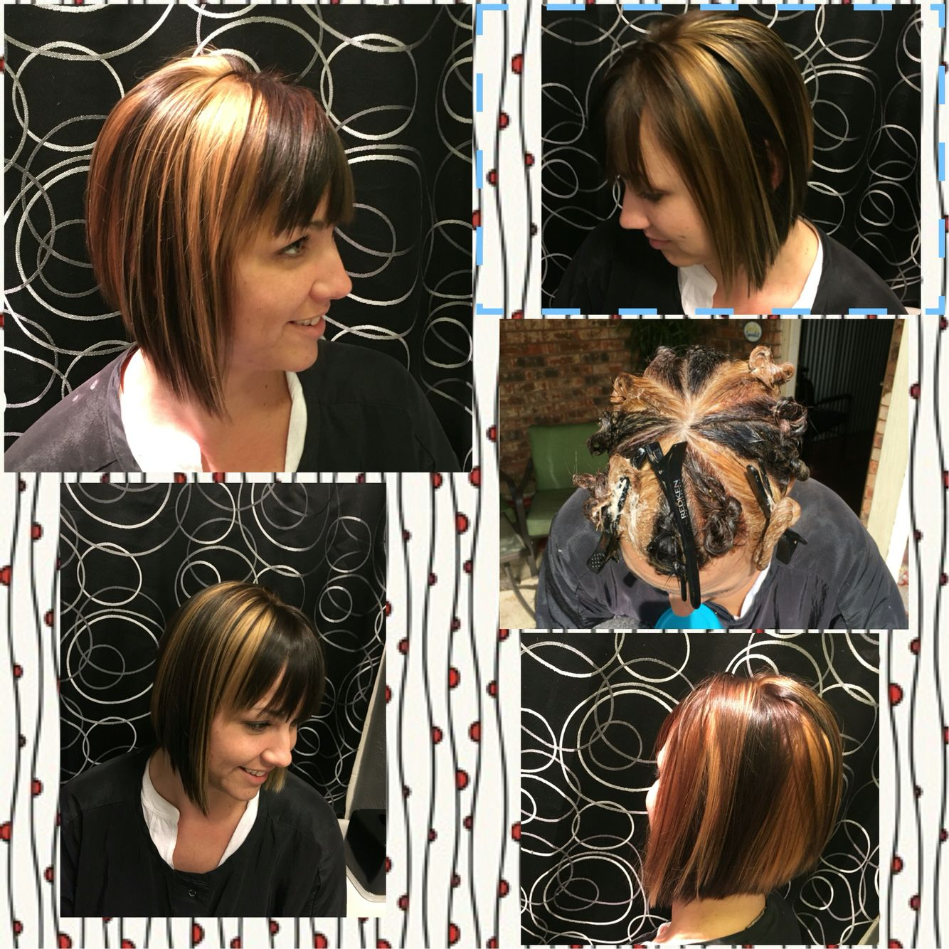 Pinwheel hair color technique! 3 colors! It\'s so cool   Hair by ...