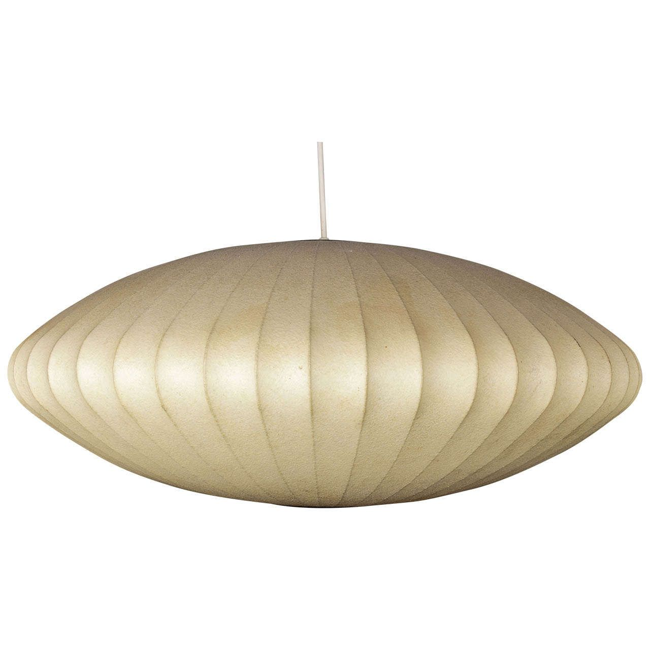 Nelson Saucer Shaped Fiberglass Bubble Lamp