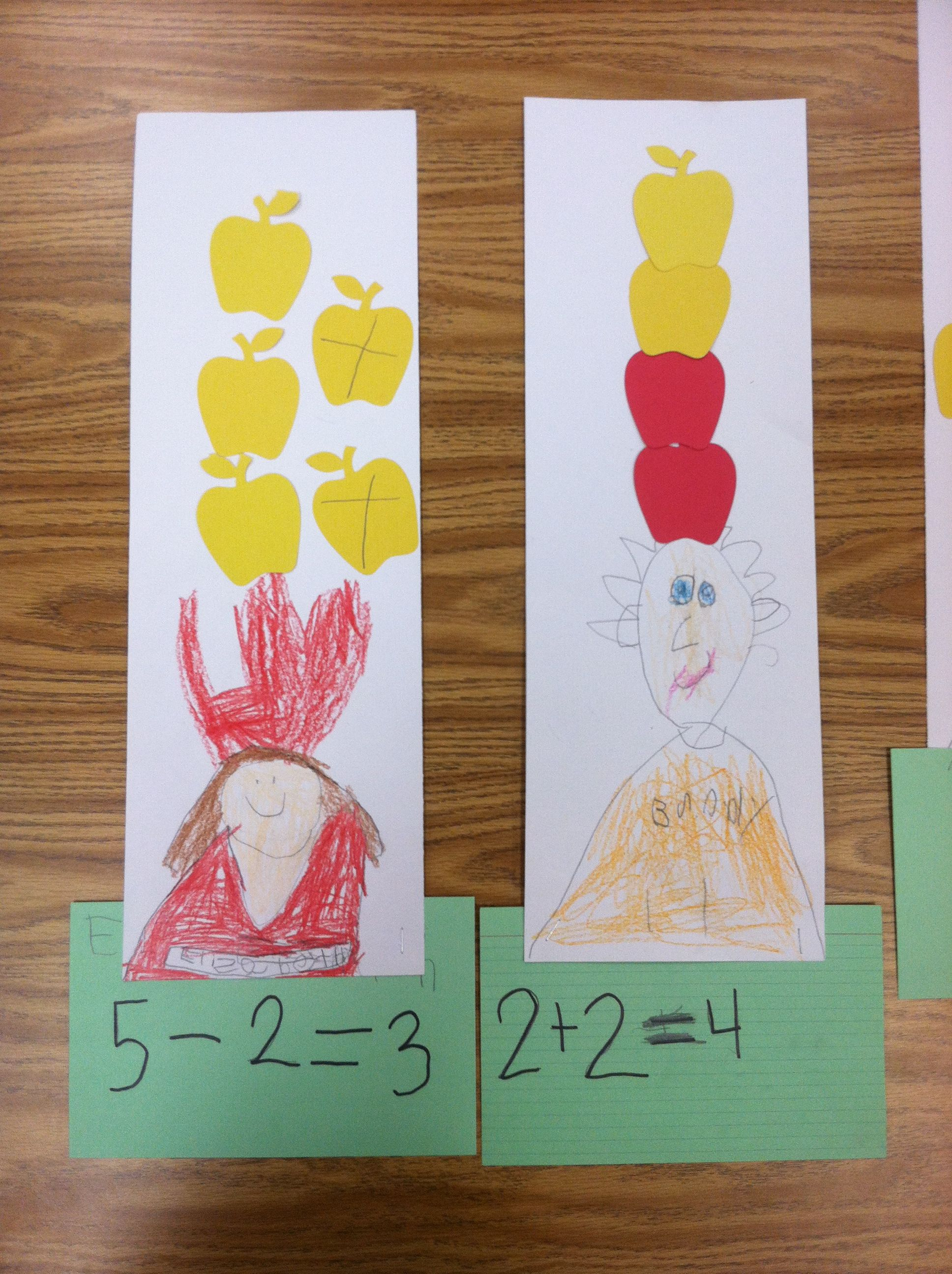 Kindergarten Students Create Addition And Subtraction Sentences Through Five Using The Story