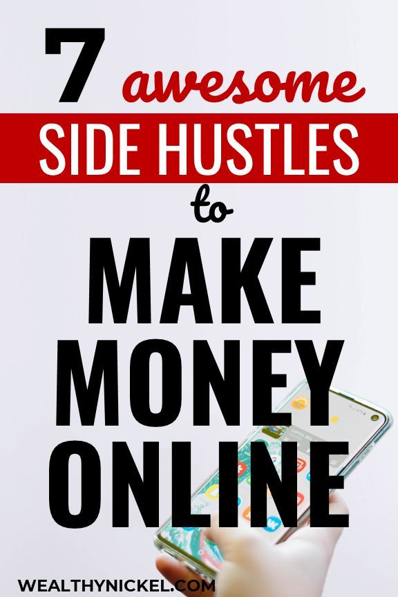 7 awesome side hustle ideas to make money online! Use these online passive income tips to make extra money from home. These make money online tips are great for beginners or experts! #makemoneyonline #extraincome #makemoney #sidehustleideas