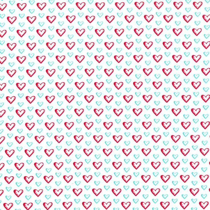 sweet hearts red and aqua love