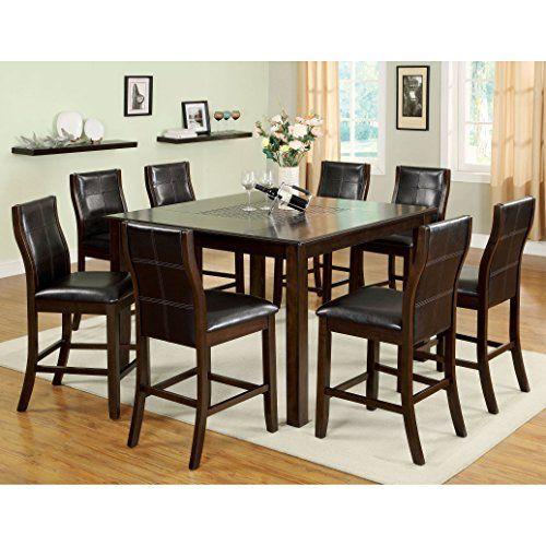 Furniture Of America Yani 7Piece Mosaic Insert Counter Height Custom Mosaic Dining Room Table 2018